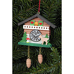 Tree Ornament - Cuckoo Clock with Bambi - 6,9x5,7 cm / 2.7x2.2 inch
