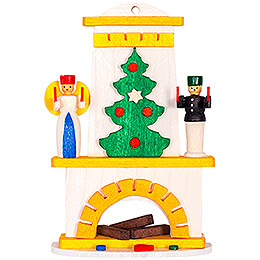 Tree Ornament - Fireplace with Angel und Miner - 8,6 cm / 3.4 inch