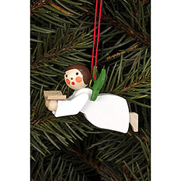 Tree Ornament - Floating Angel with Book - 4,4x2,6 cm / 1.7x1.0 inch