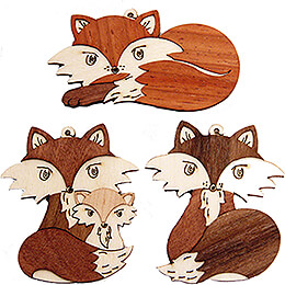 Tree Ornament - Fox - Set of 6 - 7 cm / 2.8 inch