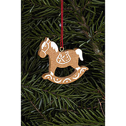 Tree Ornament - Ginger Bread Horse Small Brown - 4,7x4,8 cm / 1.9x1.9 inch