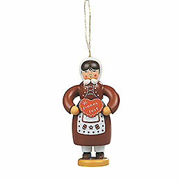 Tree Ornament - Gingerbread Woman Colored - 8 cm / 3.1 inch