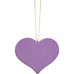 Tree Ornament - Heart Lilac - 5,7x4,5 cm / 2.2x1.8 inch