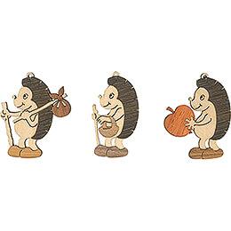 Tree Ornament - Hedgehog - Set of 6 - 7 cm / 2.8 inch