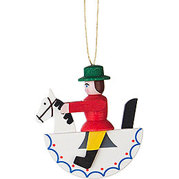 Tree Ornament - Horseman - Red - 5 cm / 2 inch