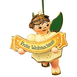 Tree Ornament - Merry Christmas Angel - 6 cm / 2,5 inch