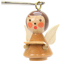 Tree Ornament - Mini-Angel Natural Colors - 1,7x2,5 cm / 1x1 inch