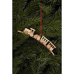 Tree Ornament - Mini-Train Natural Colors - 10,5x1,9 cm / 4x1 inch