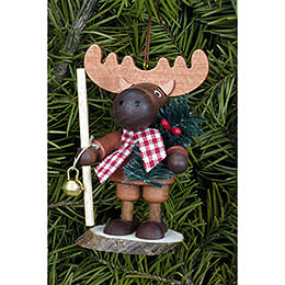 Tree Ornament - Moose Natural - 9,5 cm / 4 inch