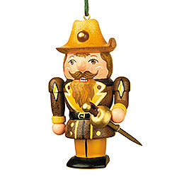 Tree Ornament - Musketeer Nutcracker - 7 cm / 3 inch