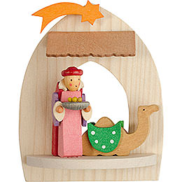 Tree Ornament - Nativity with Balthasar, Natural - 8,5 cm / 3.3 inch