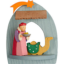 Tree Ornament - Nativity with Balthasar, Pickled - 8,5 cm / 3.3 inch