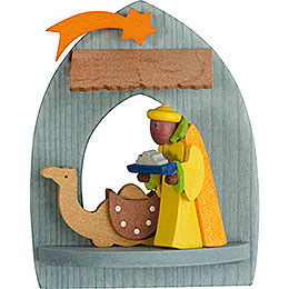Tree Ornament - Nativity with Caspar, Pickled - 8,5 cm / 3.3 inch