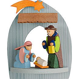 Tree Ornament - Nativity with Holy Family, Pickled - 8,5 cm / 3.3 inch