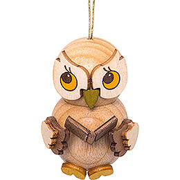 Tree Ornament - Owl Child with Book - 4 cm / 1.6 inch