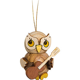 Tree Ornament - Owl Child with Guitar - 4 cm / 1.6 inch