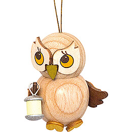 Tree Ornament - Owl Child with Lampion - 4 cm / 1.6 inch