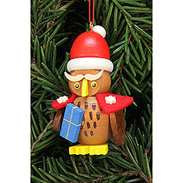 Tree Ornament - Owl Santa Claus - 3,2x6,2 cm / 1.3x2.4 inch