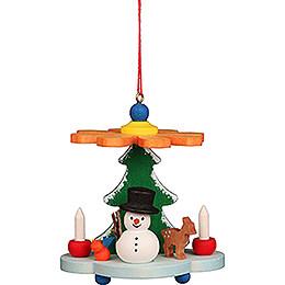 Tree Ornament - Pyramid with Snowman - 7,5 cm / 3.0 inch