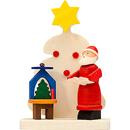 Tree Ornament - Santa Claus Tree with Pyramid - 6 cm / 2.4 inch