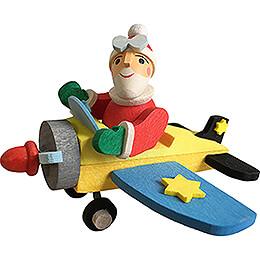 Tree Ornament - Santa in Plane - 6,2 cm / 2.4 inch