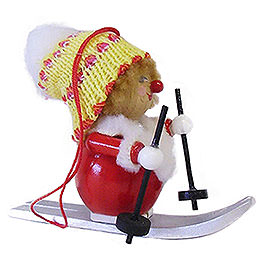 Tree Ornament - Skier - 8 cm / 3.1 inch