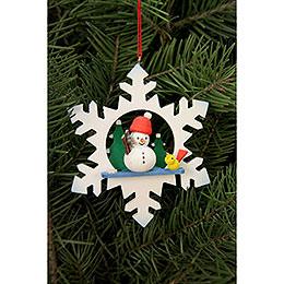 Tree Ornament - Snowflake Snowman - 9,0x9,0 cm / 3.5x3.5 inch