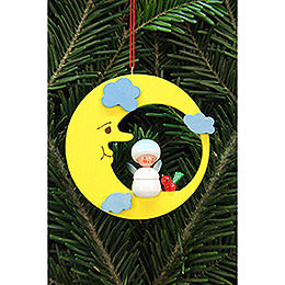 Tree Ornament - Snowflake in Moon - 7,9x7,9 cm / 3x3 inch