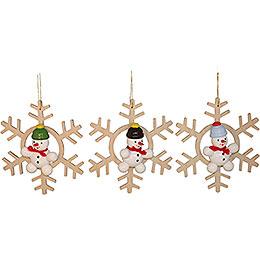 Tree Ornament Snowman, 3 Stück - 5 cm / 2 inch