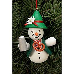 Tree Ornament - Snowman Bavarian - 6,6x9,0 cm / 2x3 inch