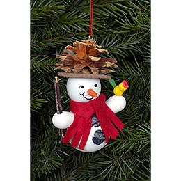 Tree Ornament - Snowman Coneman - 7,0x9,0 cm / 2x3 inch