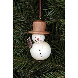 Tree Ornament - Snowman Natural - 2,5x4,6 cm / 1.0x1.8 inch