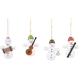 Tree Ornament Snowman Quartet - 6 cm / 2.4 inch