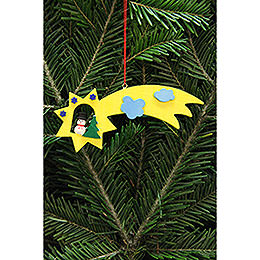 Tree Ornament - Snowman in Shooting Star - 13x5,5 cm / 5.1x2.2 inch
