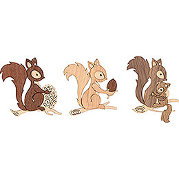 Tree Ornament - Squirrel - Set of 6 - 7 cm / 2.8 inch