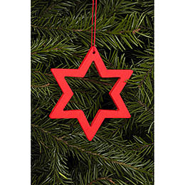 Tree Ornament - Star Red - 7,8 / 6,2 cm - 3x2 inch