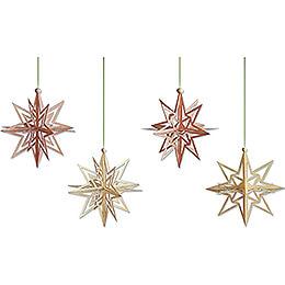 Tree Ornament - Stars 3D - Set of 4 - 7 cm / 2.8 inch