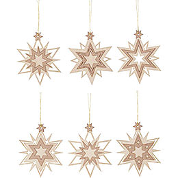Tree Ornament - Stars - Set of 6 - 7 cm / 2.8 inch