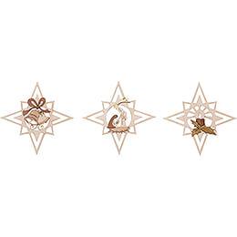 Tree Ornament - Stars - Set of 6 - 8 cm / 3.1 inch