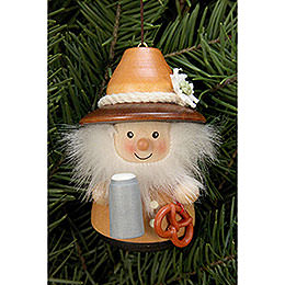 Tree Ornament - Teeter Figurine Bavarian Natural - 8 cm / 3.1 inch