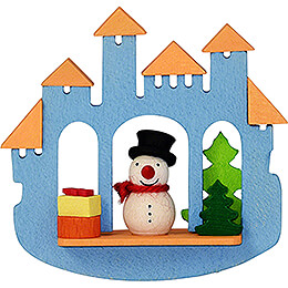 Tree Ornament - Town Gate with Snowman - 6,9 cm / 2.7 inch
