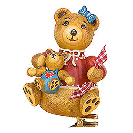 Tree Ornament - Tree Clip Anni's Teddy Bear - 8 cm / 3.1 inch