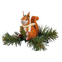 Tree Ornament - Tree Clip Squirrel - 7,5 cm / 3 inch
