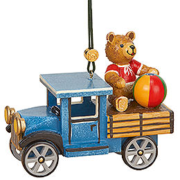 Tree Ornament - Truck with Teddy - 5 cm / 2 inch