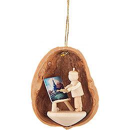 Tree Ornament - Walnut Shell Painter - 4,5 cm / 1.8 inch