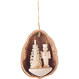 Tree Ornament - Walnut Shell with Nutcracker - 4,5 cm / 1.8 inch