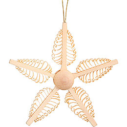 Tree Ornament - Wood Chip Star - 11 cm / 4.3 inch