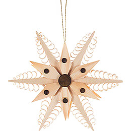 Tree Ornament - Wood Chip Star - 11,5 cm / 4.5 inch
