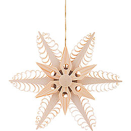 Tree Ornament - Wood Chip Star  - 12 cm / 4.7 inch