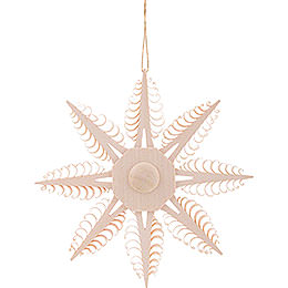 Tree Ornament - Wood Chip Star - 12,5 cm / 4.9 inch